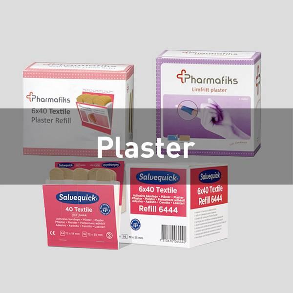 Førstehjelp plaster cederroth plum Pharmafiks kuttskader sårskader plasterdispenser limfritt plaster
